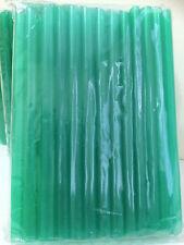 "Jumbo Bubble Boba Tea Smoothies Straws 1/2""Wide 8 1/2""Long 50-54 Pcs Dk Green"
