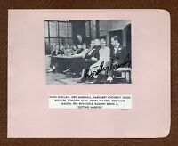 DOROTHY GISH Silent MOVIE STAR Small SIGNED PICTURE on Autograph Album Page