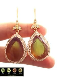 Apolite Alexandrite Ladies Earring Zultanite Jewelry Gift For Her 925 Silver