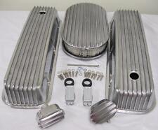 Air Cleaner + Aluminum Valve Covers Tall Retro Cal Finned Custom Big Block Chevy