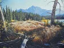 Larry Dyke Joshua 2:22 Mountain Landscape Forest Frontier Men Trees S/N