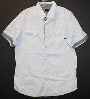 BUFFALO DAVID BITTON Mens Blue Striped S/S Snap-Front Shirt NWT Size XXL (L-XL)