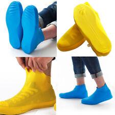 Unisex Rain Shoes Antiskid Waterproof Raincoat Set Coat Shoe Boots Cover Pink#L