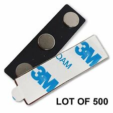 Magnet Name Tag Badge Pin 3-Pole Magnet with 3M Adhesive LOT OF 500 #MAP3-500#