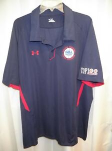 Genuine Under Armour NBA Players Top 100 Camp Stitched Navy (XXL) SS Polo Shirt