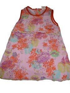 Cakewalk zauberhaftes Kleid Gr.86 rosa-orange mit Blumen Motiven !!