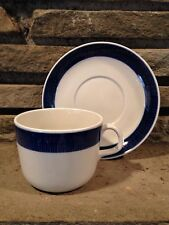 Rorstrand Sweden Koka Blue Cup and Saucer Set Hertha Bengtsson