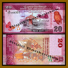 Sri Lanka 20 Rupees, 2015 P-123 Owel Unc