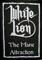 "WHITE LION AUFNÄHER / PATCH # 1 ""THE MANE ATTRACTION""- 10x7cm - VINTAGE"