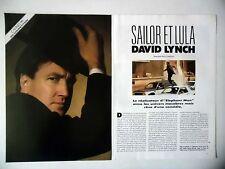COUPURE DE PRESSE-CLIPPING : David LYNCH [4pages] 05/1990 Sailor et Lula