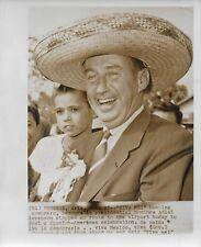 1956 PRESS PHOTO Phoenix Presidential Candidate Adlai Stevenson In Sombrero #222