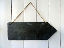 Slate arrow sign, large, handcut plaque, wedding sign, party sign, garden sign