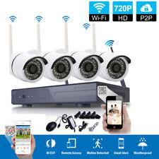 4CH 1080P H.264 NVR Waterproof WIFI IR-CUT 720P Camera Home CCTV Security System