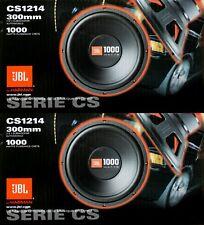 "2x JBL CS1214 12"" 2000W Car Subwoofers Power Subs Audio Woofers 4 Ohm SVC Black"