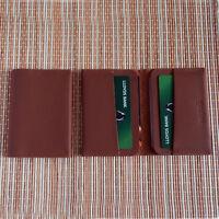 Real Leather Bifold ID Credit Card Wallet Slim Pocket Case Holder Black Brown