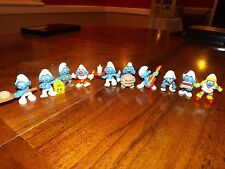 vintage mcdonalds toys - Smurfs set of 7 and 3 others