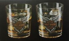 Harley Davidson 115th Anniversary Old Fashioned Glasses Set
