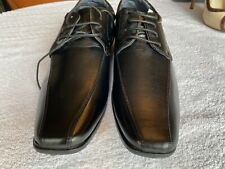 New Men's  Charles Southwell  Black Leather  Shoes Size UK 10