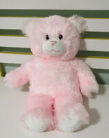 PINK BUILD A BEAR LIGHT PINK TEDDY BEAR PINK EYES SUPER CUTE 38CM SOFT TOY!