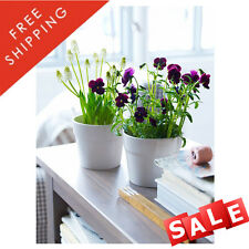 NEW Set of 3 Ikea Oradd Ceramic Beige Outdoor Indoor Garden Flower Plant Pot