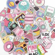 60pcs Pink Girl Style Vinyl Stickers Skate Laptop Luggage Car Bomb Decal Lot