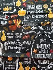 Fall Thanksgiving Black Chalkboard Turkey Pumpkin curtain valance