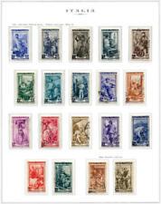 1950 Serie Italia Al Lavoro 19 valori USATA