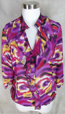 Como Top Tunic Medium Purple Mod Abstract Print