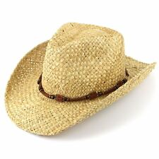4f2b52c5cd2 Straw Cowboy Hat Hawkins Sun Cap Mens Womens Band Ladies Fedora Summer