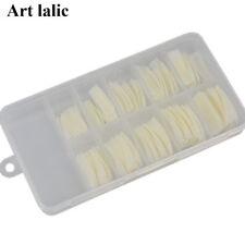 100 x False Fake Acrylic Natural Nails Half Tips Make Up + Box Nail Art