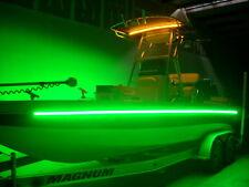 2PCS 16' Green LED Waterproof IP68 Lights Marine Ski Boat Yacht Pontoon Bass