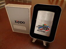 DAYTONA 500 NASCAR ZIPPO LIGHTER MINT IN BOX 1998 40TH ANNUAL BRUSH CHROME