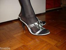 Pantolette / Zoccoli / Mules NEU Gr. 41 in silbern super sexy unbedingt ansehen