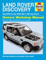LAND ROVER DISCOVERY 3 2.7 V6 TD 2004-09 HAYNES WORKSHOP REPAIR MANUAL 5562