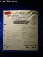 Sony Service Manual CDP C250Z / C350Z / CE305 /CE405 CD Player (#0500)