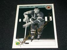 Canadiens Dollard ST Laurent Signed Auto 1992 Ultimate Original Six Card #15  K