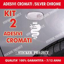 2 ADESIVI CROMATI SOTTOFRECCIA ALFA ROMEO STICKERS  Mito Giulietta 147 159 156