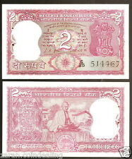 2 Rupees L.K. Jha Gandhi Back (Plain Inset) @ Uncirculated Condition (B-9)