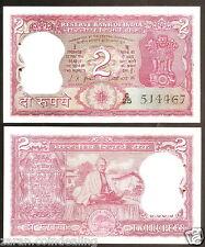 2 Rupees L.K. Jha Gandhi Back (Plain Inset) @ Uncirculated Condition (B-9)