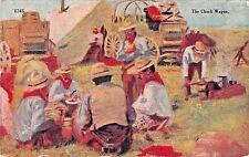 THE CHUCK WAGON~W SCHULTZ ARTIST DRAWN 1910 COWBOY POSTCARD