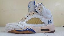 Collectors Rare Colors 136045 144 00 2006 Nike Air Jordan V 5 Retro WHITE BLUE