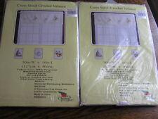 """Cross Stitch w/ Crocheted Lace 50x16"""" White VALANCE w/ SAILBOAT & LIGHTHOUSE~NIP"""