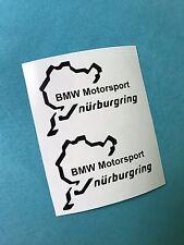 2x Nurburgring BMW Motorsport Aufkleber Window Bumper Sticker Vinil 189
