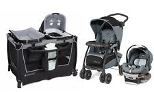 Chicco Baby Stroller with Car Seat Travel System Playard Nursery Crib Combo Set