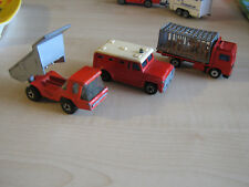 Konvolut ältere Lesney Matchbox Superfast Fahrzeuge Volvo  Atlas Kipper Armored