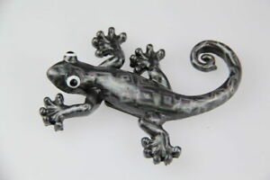 Silver Lizard With Glossy Laser Print