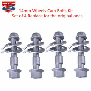 FRONT LEFT & RIGHT CAMBER ALIGNMENT 14MM ADJUSTABLE CAM BOLTS KIT (4 Bolts)