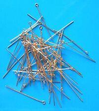"""250 X 1.5"""" medio (0.7mm) Chapado en Oro Eyepins, resultados para la fabricación de joyas"""