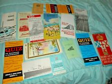 VINTAGE RAILROAD ITEMS, BROCHURES, MAPS, ETC. 1930's to 1960's NICE GROUP(14)