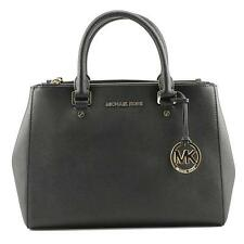 Genuine Michael Kors Sutton Medium Satchel Saffiano Leather 30s4gtvs6l BLK Sales